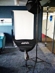 Mobilne studio do zdjęć do CV